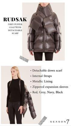 Puffer Jacket style tips Grey Puffer Coat, Women's Puffer Coats, Parka Coat, Puffer Jackets, Winter Jackets, Wrap Coat, Snow Suit, Season 7