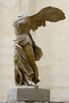 winged victory of samothrace, one of my favourite hellenistic sculptures.love and want to see it in person one day :)