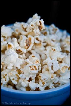 Clean Eating Coconut Popcorn  --