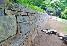 Drystone retaining wall in Asheville, North Carolina.