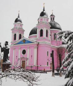 Chernivtsi, Ukraine in winter.