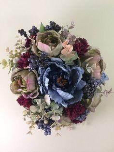 Winter bouquet, Fall bouquet, Wedding bouquet, Bridal bouquet, Bouquet wedding, Artificial wedding bouquet, Blue bouquet, Purple bouquet Artificial Wedding Bouquets, Silk Wedding Bouquets, Fall Bouquets, Winter Bouquet, Blue Bouquet, Wedding Stuff, Floral Wreath, Wreaths, Bridal