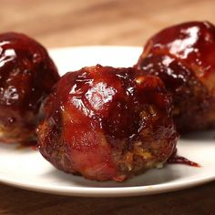 BBQ Bacon Meatballs Recipe by Tasty