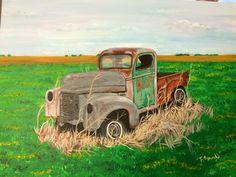 """Old truck "" Acrylic painting By Teresa Beard"
