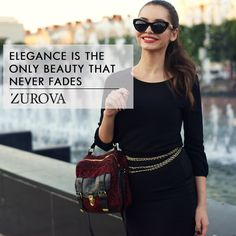 Nothing except pure #Elegance! #ZurovaDiaries