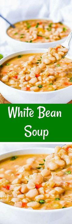 White Bean Soup Vegan, Gluten-Free and full of flavor!