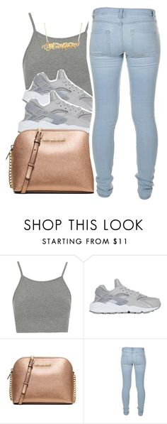"""""""6.23.16❣"""" by lookatimani ❤ liked on Polyvore featuring Topshop, NIKE, MICHAEL Michael Kors and Marc by Marc Jacobs"""