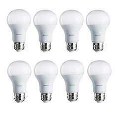 Philips 462002 100W Equivalent Daylight A19 LED Light Bulb, 8-Pack,