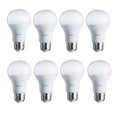 Philips 462002 100W Equivalent Daylight A19 LED Light Bulb 8Pack -- For more information, visit image link-affiliate link. #SmartLED