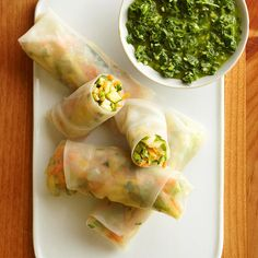 Next time you crave takeout, try our Veggie Spring Rolls -- they're easier to make than you think. More healthy recipes: http://www.bhg.com/recipes/healthy/low-sodium/heart-healthy-low-sodium-recipes/ #myplate