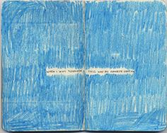 Cerulean - TOTALLY my fav crayon color. Love Blue, My Love, My Romance, Stream Of Consciousness, Art Journal Pages, Mind Journal, Art Journaling, Cerulean, Journal Inspiration