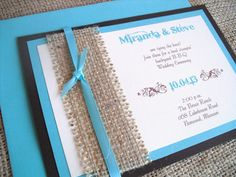 Rustic Wedding Invitation with Burlap and by dazzlingexpressions, $5.95