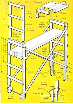 Build Mobile Scaffold - Other Woodworking Plans and Projects | WoodArchivist.com #woodworkingbench