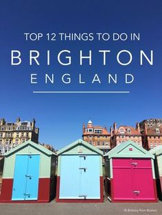 This quirky little seaside town in the south of England is a ton of fun and the perfect getaway. Here are the top 12 things to do in Brighton England! Brighton England, Sprachreise England, London Brighton, England And Scotland, London England, Visit Brighton, Southampton England, Visit Budapest, The Perfect Getaway
