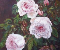 """Saatchi Art is pleased to offer the painting, """"Roses II,"""" by Ellen Fasthuber-Huemer. Original Painting: Oil on Canvas. Size is 0 H x 0 W x 0 in. Oil On Canvas, Saatchi Art, Original Paintings, Art Prints, Artist, Flowers, Plants, Roses, Pink"""