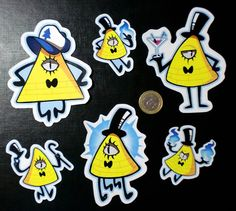 Cute Gravity Falls BILL CIPHER STICKERS small by TheOrchidTears