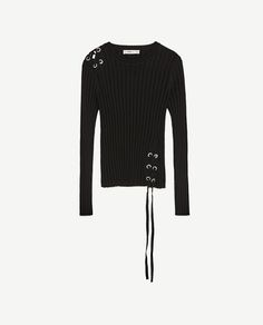 Image 8 of RIBBED SWEATER WITH CORD from Zara