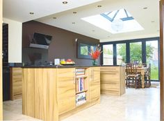 kitchen with roof lantern