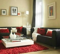 Living Room Ideas Red And Black Decor Brown Rooms