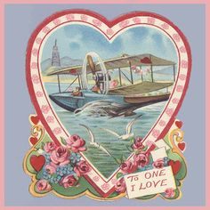 Vintage Valentine Museum: The Mile High Club - Airplanes!