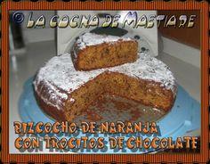 La cocina de Maetiare: Bizcocho de naranja con trocitos de chocolate