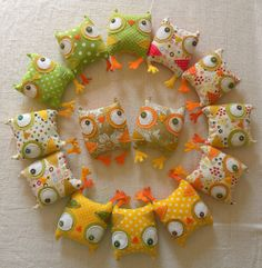 Reserved listing for wee Owlies flock by krakracraft on Etsy