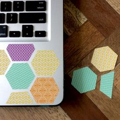 Washi-fi your lap top with this cute and bright tutorial -KOHLmag via.Mikkomix