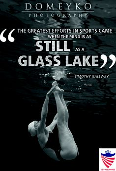 """""""The greatest efforts in sports came when the mind is as still as a glass lake."""" - Timothy Gallwey"""