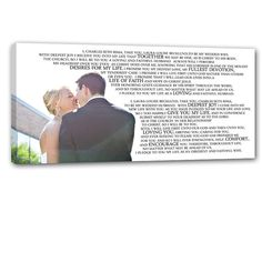I've been searcing for some way to always display our vows we made and said to each other :)