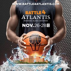 Join us in paradise for the 2014 #Battle4Atlantis tournament where eight of the top men's college basketball teams will go head to head to become the champion! #Basketball #Atlantis