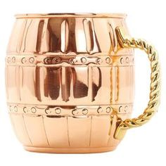 Old Dutch Copper Barrel Mug (Set of 4)