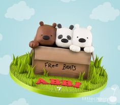 We Bare Bears Cake