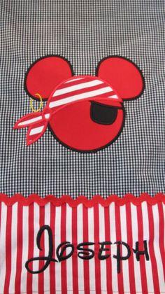 Mickey Mouse Pirate Disney PillowcaseStandard size by heatherskiba