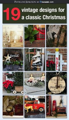I searched Hometalk for vintage Christmas decorating ideas. A Merry Vintage Christmas clipboard on Hometalk has 19 featured photos with decorating ideas. Cottage Christmas, Christmas Past, Primitive Christmas, Christmas Projects, All Things Christmas, Christmas Holidays, Christmas Collage, Rustic Christmas, Vintage Holiday