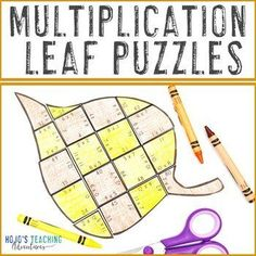 MULTIPLICATION Fall Leaf Math Activities | FUN Tree Art Activity |3rd, 4th, 5th grade, Activities, Autumn, Basic Operations, Games, Homeschool, Math Centers, Mental Math Shape Puzzles, Maths Puzzles, 5th Grade Classroom, Special Education Classroom, Tree Life Cycle, Tree Study, Magic Squares, Math Facts, Thinking Skills