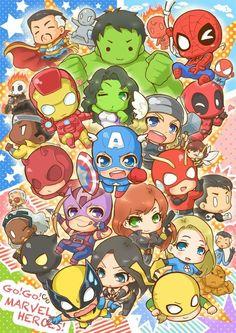 The Avengers 829084612635279621 - Marvel Studion Source by jerominelgl Marvel Avengers, Marvel Comics, Baby Marvel, Chibi Marvel, Avengers Cartoon, Marvel Cartoons, Baby Avengers, Marvel Fan Art, Marvel Heroes