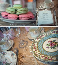 Macarons ... gorgeous dishes ... I die!