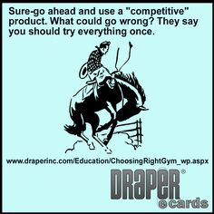 "Sure-go ahead and use a ""competitive"" product. What could go wrong? http://ow.ly/S5pfb #DRAPERecards"