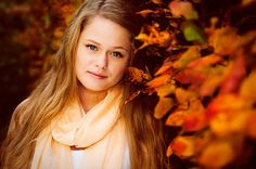 Autumn portrait by Michaela Dahlström, via Flickr