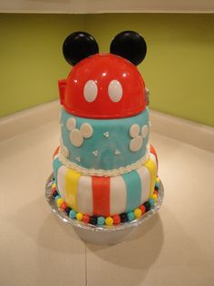 Mickey Mouse Clubhouse Cake for Andrew.