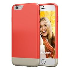 iPhone 6 Case, Maxboost® [Vibrance Series] iPhone 6 (4.7) Case [Lifetime Warranty] Protective SOFT-Interior Scratch Protection Metallic Finished Base with Vibrant Trendy Color Slider Style Hard Case for iPhone 6 (4.7 inch) (2014) - Italian Rose / Champagne Gold (MB106201 - Ultra Slim Profile, Thinner than coventional otterbox/lifeproof/kate Spade/speck/juicy couture/griffin/element/taktik Case)