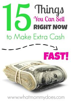 If you need money within a few days, there are many things you can find around the house to sell for quick cash. You can probably even get some of the items for free or close to free from family, friends, or Goodwill! This is for extra money, like $50 or $100. Part of my money making ideas series. Read more on http://www.whatmommydoes.com/15-things-can-sell-make-money-fast/