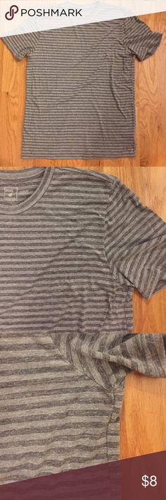 Urban Outfitters Striped Crewneck Tee Urban Outfitters striped grey slim fit crew neck tee. The shirt is in excellent shape, I'm pretty sure my husband never wore it! Urban Outfitters Shirts