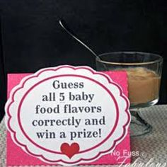guess the food baby shower game.when I throw a baby shower Shower Bebe, Baby Boy Shower, Baby Shower Gifts, Baby Gifts, Men Shower, Diaper Shower, Shower Party, Baby Shower Parties, Cute Baby Shower Games