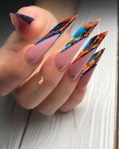 Bad Nails, Edge Nails, Exotic Nails, French Nail Art, Nail Forms, Nail Art Videos, Almond Nails, How To Do Nails, Pretty Nails