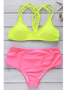 SHARE & Get it FREE   Beach Hit Color Cami Bikini Set - YellowFor Fashion Lovers only:80,000+ Items • New Arrivals Daily Join Zaful: Get YOUR $50 NOW!
