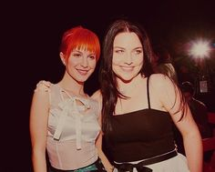 Hayley Williams and Amy Lee. That's a whole lota awesome in one place.