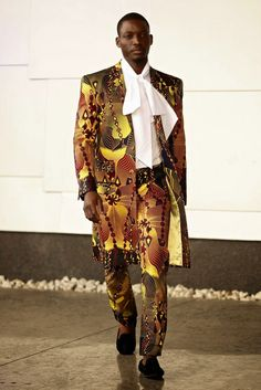 David Tlale at Mercedes-Benz Fashion Week New York 2015 Male Fashion Trends, Fashion Week 2015, Dope Fashion, Mens Fashion, African Clothing For Men, African Shirts, African Men Fashion, African Clothes, Dandy