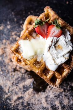 Churro waffles a la mode [1200  1800] - see http://www.classybro.com/ for more!