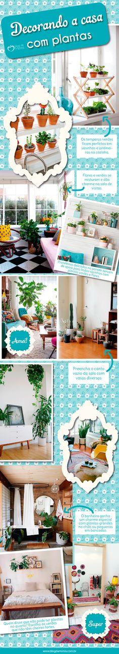 Decorando-a-casa-com-plantas - Blog da Mimis - Hoje trouxe várias referencias de imagens lindas para nos inspirarmos e deixarmos nosso cantinho cheio de beleza.
